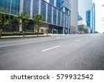financial center beside the road | Shutterstock . vector #579932542