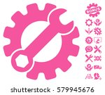 service tools icon with bonus... | Shutterstock .eps vector #579945676