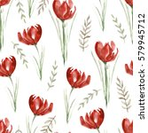 seamless pattern with red...   Shutterstock . vector #579945712