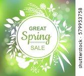 great spring sale banner.... | Shutterstock .eps vector #579953758