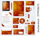 brown set of vector corporate... | Shutterstock .eps vector #579958672