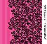 seamless lace border. vector... | Shutterstock .eps vector #579961132