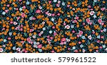 simple cute pattern in small... | Shutterstock .eps vector #579961522
