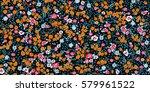 simple cute pattern in small... | Shutterstock .eps vector #579961522