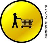 shopping button   Shutterstock .eps vector #57997570