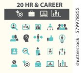 human resources  career icons | Shutterstock .eps vector #579978352