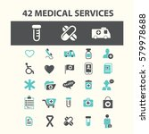 medical services icons  | Shutterstock .eps vector #579978688