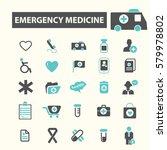 emergency medicine icons   Shutterstock .eps vector #579978802