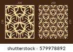 laser cutting set. woodcut... | Shutterstock .eps vector #579978892