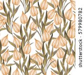 seamless pattern with winter...   Shutterstock . vector #579980782