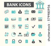 bank icons  | Shutterstock .eps vector #579980956