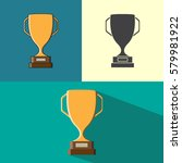 icons trophies. a set of cups.... | Shutterstock .eps vector #579981922