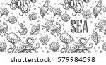 seamless pattern sea shell ...   Shutterstock .eps vector #579984598
