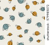 vector seamless mid century... | Shutterstock .eps vector #579985072
