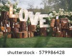 decorated meadow for wedding... | Shutterstock . vector #579986428