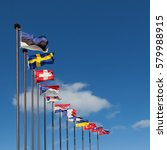 national flags of the european... | Shutterstock . vector #579988915