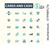 cards and cash icons | Shutterstock .eps vector #579989176