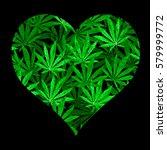 Heart Of Bright Green Cannabis...