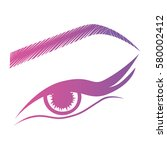illustration with woman's eye... | Shutterstock .eps vector #580002412