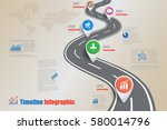 design template  road map... | Shutterstock .eps vector #580014796