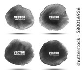 set of dark gray black...   Shutterstock .eps vector #580016926