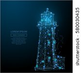abstract image of a lighthouse...   Shutterstock .eps vector #580030435