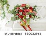 bright romantic bouquet of...
