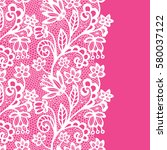 seamless lace border. vector... | Shutterstock .eps vector #580037122