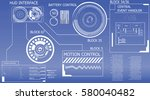 abstract hud elements on... | Shutterstock .eps vector #580040482