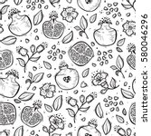 vector seamless pattern with... | Shutterstock .eps vector #580046296