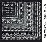 vector decorative scribble... | Shutterstock .eps vector #580055065