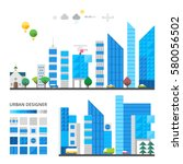 city elements to make your own... | Shutterstock .eps vector #580056502