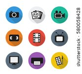vector flat visual icons. set. | Shutterstock .eps vector #580058428