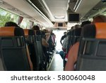 view from inside the bus with...   Shutterstock . vector #580060048