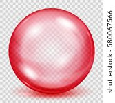 big translucent red sphere with ... | Shutterstock .eps vector #580067566