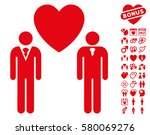 gay lovers icon with bonus... | Shutterstock .eps vector #580069276