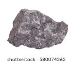 Small photo of Natural specimen of mineral graphite – natural form of crystalline carbon founds in metamorphic and igneous rocks, the softest of the allotropic modifications of carbon, on white background