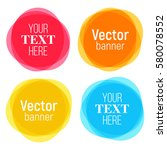 set of vector colorful round... | Shutterstock .eps vector #580078552