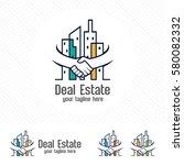 property deal logo design...   Shutterstock .eps vector #580082332
