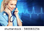doctor with stethoscope on a