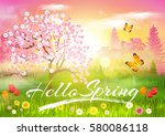 spring. | Shutterstock .eps vector #580086118