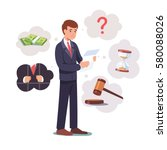 sad broken businessman standing ... | Shutterstock .eps vector #580088026