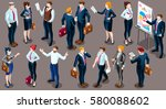 isolated crowd management... | Shutterstock .eps vector #580088602