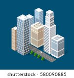 isometric 3d city | Shutterstock . vector #580090885