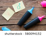 gender symbols and colored...   Shutterstock . vector #580094152