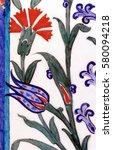 the art of turkish tiles and... | Shutterstock . vector #580094218