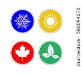 set of modern season colored...   Shutterstock .eps vector #580094272