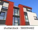 residential home with modern... | Shutterstock . vector #580094482