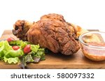crispy pork knuckle or german...   Shutterstock . vector #580097332