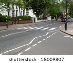 Постер, плакат: Abbey Road zebra crossing